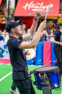 picture of Alun with Box9drumline at NFL UK Fanbase in  Regent Street 2014
